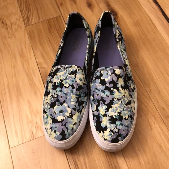 Ked's Double Decker Floral Slip Ons